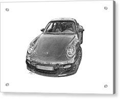 Porsche 911 Turbo Acrylic Print by Gabor Vida