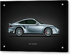 Porsche 911 Turbo Acrylic Print by Mark Rogan
