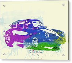 Porsche 911 Watercolor Acrylic Print
