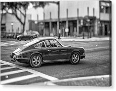Porsche 911e Acrylic Print by Howard Salmon