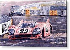 Porsche 917-20 Pink Pig Le Mans 1971 Joest Reinhold Acrylic Print by Yuriy  Shevchuk