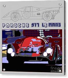 Porsche 917 Graphic Acrylic Print by Curt Johnson