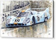 Porsche 917 Lh 24 Le Mans 1971 Rodriguez Oliver Acrylic Print