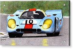 Porsche 917k Pedro Rodriguez 1970 Acrylic Print by Ugo Capeto
