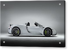 Acrylic Print featuring the digital art Porsche 918 Spyder by Douglas Pittman