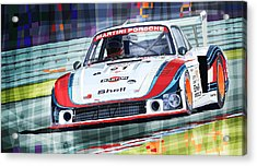 Porsche 935 Coupe Moby Dick Martini Racing Team Acrylic Print by Yuriy  Shevchuk