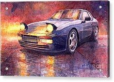 Porsche 944 Turbo Acrylic Print by Yuriy  Shevchuk
