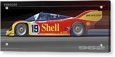 Acrylic Print featuring the photograph Porsche 962 Andretti by Ed Dooley