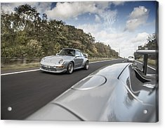 Porsche 993 Gt2 With Carrera Gt And 1973 2.7 Rs Acrylic Print