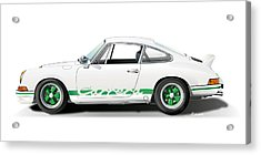 Porsche Carrera Rs Illustration Acrylic Print