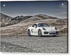 Porsche Cayman Gt4 In The Wild Acrylic Print