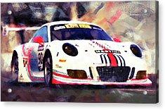 Porsche Gt3 Martini Racing - 04 Acrylic Print by Andrea Mazzocchetti