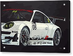 Acrylic Print featuring the painting Porsche Gt3 Rsr by Richard Le Page