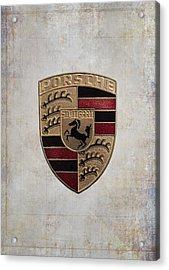 Porsche Shield Acrylic Print