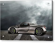 Porsche Spyder V2 Acrylic Print by Peter Chilelli