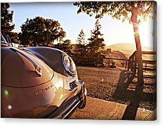 Porsche Sundown Acrylic Print