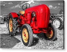 Porsche Tractor Acrylic Print by Rob Hawkins