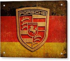 Porsche Vintage  Acrylic Print by Dan Haraga