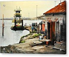 Port Aransas Ways Acrylic Print