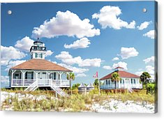 Acrylic Print featuring the painting Port Boca Grande Lighthouse by Christopher Arndt