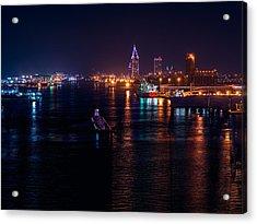 Port City Purple Acrylic Print
