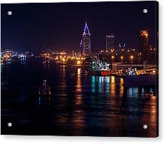 Port City Purple Closer Acrylic Print