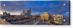 Port City Skyline Panorama Acrylic Print