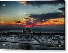 Port Everglades Sunrise Acrylic Print by Judy Hall-Folde