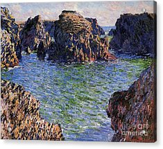 Port Goulphar Belle Ile Brittany Acrylic Print by Claude Monet