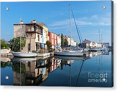 Port Grimaud Port With Yachts Acrylic Print