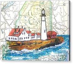 Port Head Lighthouse Maine Acrylic Print by Scott D Van Osdol
