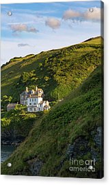 Acrylic Print featuring the photograph Port Isaac Homes by Brian Jannsen