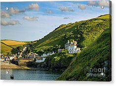 Acrylic Print featuring the photograph Port Issac Hills by Brian Jannsen