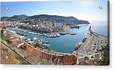 Acrylic Print featuring the photograph Port Nice Panorama by Yhun Suarez