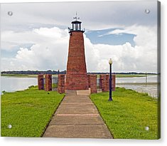 Port Of Kissimmee Lighthouse In Central Florida Acrylic Print by Allan  Hughes