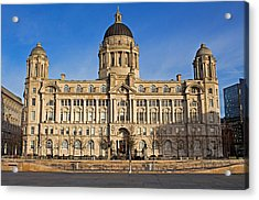 Port Of Liverpool Building On Liverpool Waterfront Acrylic Print by Ken Biggs