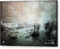 Port Of London - Circa 1840 Acrylic Print by Lianne Schneider