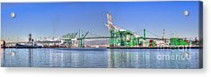 Acrylic Print featuring the photograph Port Of Los Angeles - Panoramic by Jim Carrell