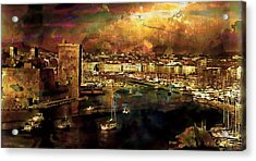 The Old Port Of Marseille Acrylic Print