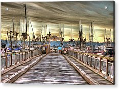 Port Of Newport - Dock 5 Acrylic Print