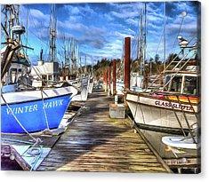 Port Of Newport Dock No 7 Acrylic Print by Thom Zehrfeld