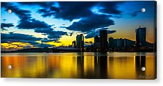 Port Of Spain Reflections  Acrylic Print by Marcus Gonzales