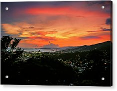 Port Of Spain Sunset Acrylic Print