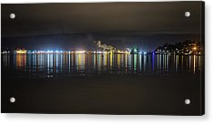 Port Of Tacoma Lights Acrylic Print