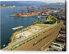 Port Of Vancouver Bc Acrylic Print by David Gn