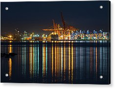 Port Of Vancouver In British Columbia Canada Acrylic Print by David Gn