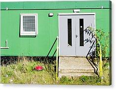 Portable Cabin Acrylic Print by Tom Gowanlock