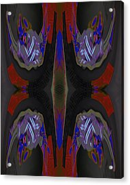 Portal You Leapt Through To Chase My Next - To - Nothingness 2015 Acrylic Print by James Warren