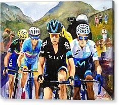 Porte Quintana Froome And Nibali Acrylic Print