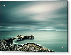 Portencross Pier Acrylic Print